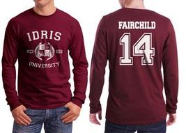 Fairchild 14 Idris University Longsleeve Men Maroon - $25.00