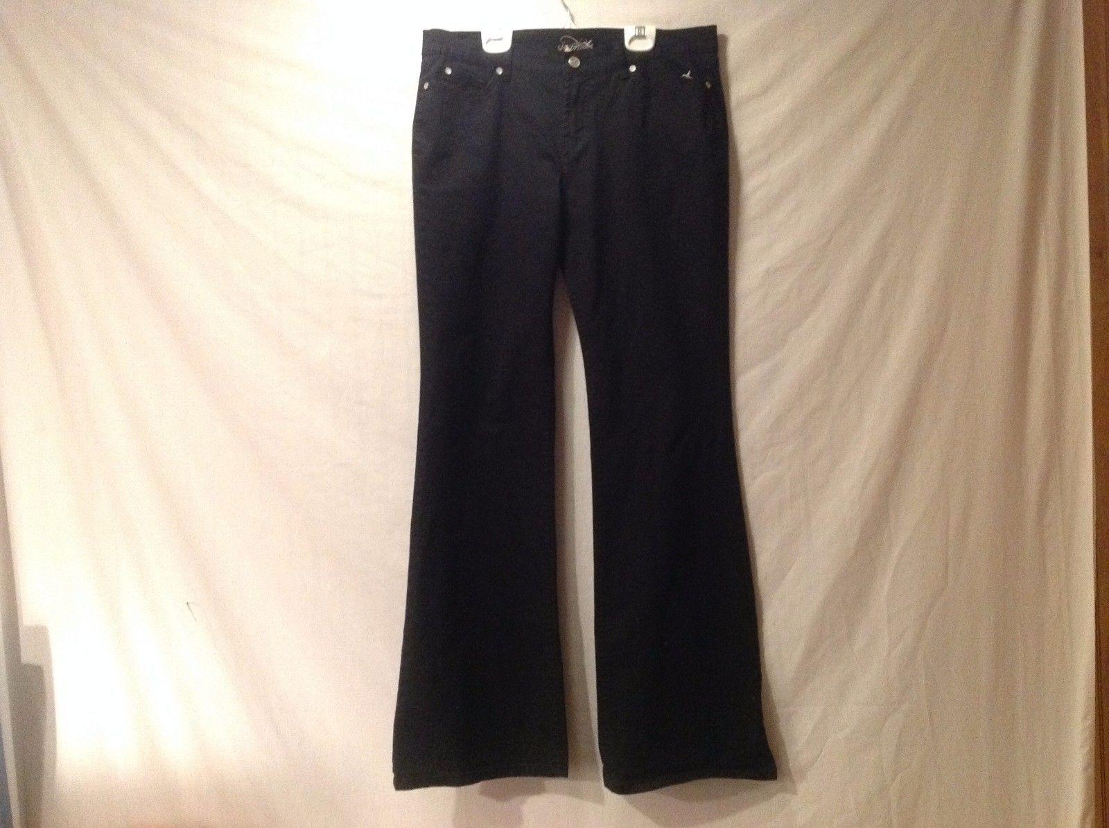 Great Condition Grane Size 11 Long Cotton Blend Black Pants 4 Pockets