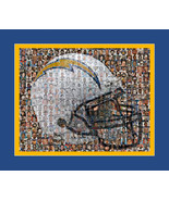 San Diego Chargers Mosaic Print Art Designed Using over 100 of the Great... - $40.00+
