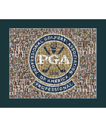 PGA Golf Mosaic Print Art Featuring over 100 of the Greatest Golfers of ... - $20.00