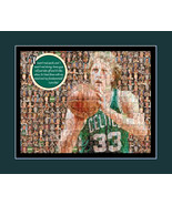 Larry Bird Picture Mosaic Print Art Using 50 Player images of Larry. - $20.00