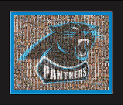 Carolina Panthers Mosaic Print Art Designed Using Over 75 Player Photos.... - $40.00+