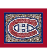 Montreal Canadiens Mosaic Print Art Designed Using Over 75 Past and Pres... - $40.00+