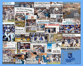 "KC Royals 2015 World Series Newspaper Collage Print. 8x10"" or 16x20"" Print - $20.00+"