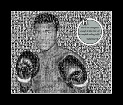 Muhammad Ali Photo Mosaic Print Art- 11x14 Matted Print - $20.00