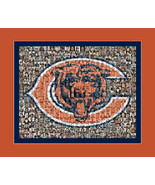 Chicago Bears Mosaic Print Art Using Over 100 of the Greatest Bears Play... - $40.00+