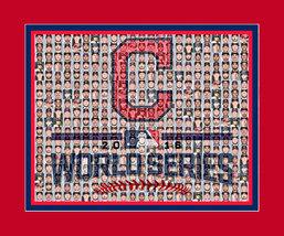 Cleveland Indians 2016 World Series Mosaic Print Art Designed using play... - $20.00