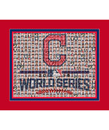 Cleveland Indians 2016 World Series Mosaic Print Art Designed using play... - $20.00