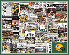 Green Bay Packers 2011 Superbowl Newspaper Collage - $19.99