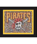 Pittsburgh Pirates Mosaic Print Art Designed Using The Greatest Pirate P... - $25.00+