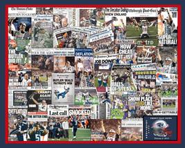 New England Patriots 2015 Super Bowl Newspaper Collage Print Art designe... - $19.99