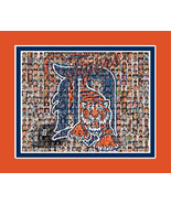 Detroit Tigers Mosaic Print Art Created Using The Greatest Tiger Players... - $40.00+