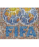 FIFA Soccer Mosaic Print Art Featuring over 100 of the Greatest Soccer P... - $20.00