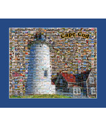 Cape Cod Photo Mosaic Print Art Designed Using Over 200 Various Images F... - $20.00
