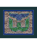 Hartford Whalers Photo Mosaic Print Art Designed Using Whalers Player Im... - $20.00