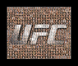 UFC Mosaic Print Art Featuring over 100 of the Greatest UFC Fighters of ... - $20.00