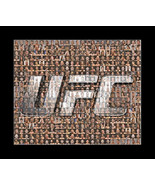 UFC Mosaic Print Art Featuring over 100 of the Greatest UFC Fighters of All Time - $24.99