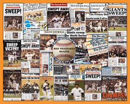 SF Giants 2012 World Series Newspaper Collage Print- 16x20 Unframed prin... - $19.99