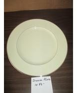 Lenox Montclair Presidential Eggshell Platinum Rimmed Dinner Plate B501,... - $29.99