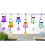 Stunning Enchanted Garden Ombre Design Hanging Bells by Giftcraft - 6 Co... - $16.11