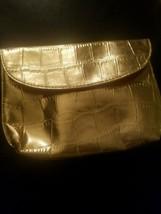 ESTEE LAUDER GOLD MAKE UP PURSUE/BAG - $6.35