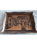 Vintage Coppercraft Wall Plaque Picture Travellers' Rest - $35.00