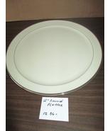 "Lenox Montclair Presidentil Eggshell Platinum Rimmed 12"" Chop Plate Plat... - $124.50"