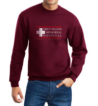 Grey + Sloan Memorial Hospital Greys anatomy Crewneck Sweatshirt MAROON - $30.00+