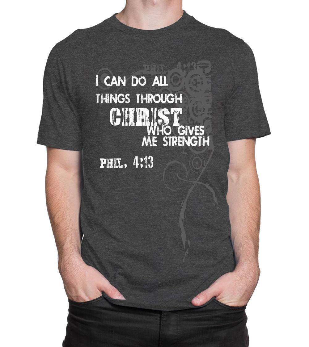 Cool printed christian t shirt phil 4 13 original made usa for T shirt printing usa