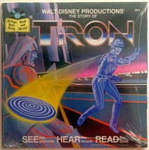 The Story of Tron SEALED 7' Vinyl Record / 24 Page Book, Disneyland - 38... - $48.95