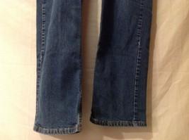 Great Condition Eddie Bauer Cotton Blend Size 16 Tall Blue Jeans Button Zipper image 2