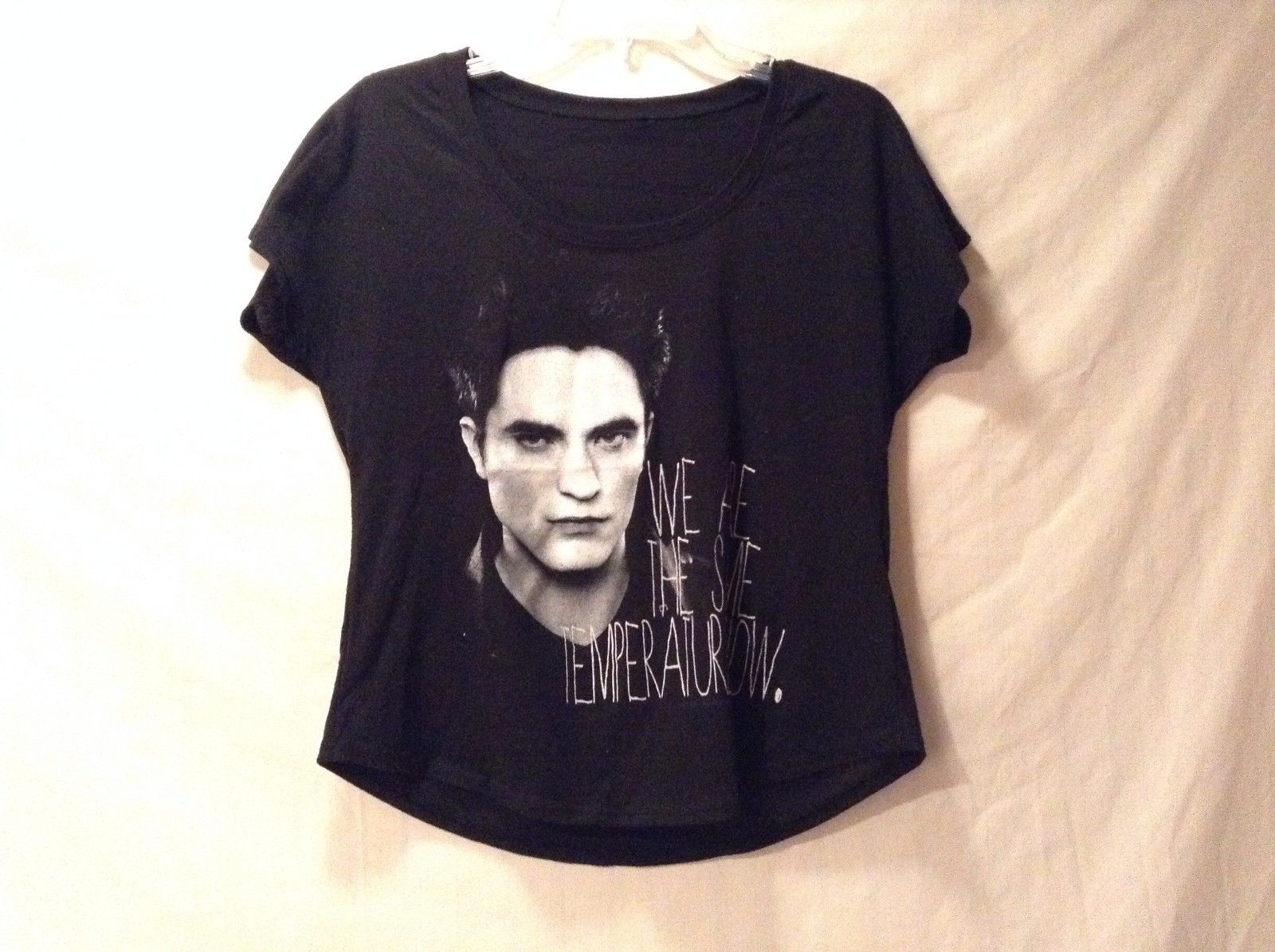 Great Condition Black White Sheer Edward from Twilight T-shirt