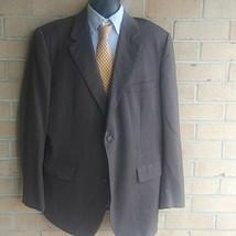 Vintage Brooks Brothers 46L brown Wool  2 button Blazer Jacket - $28.71