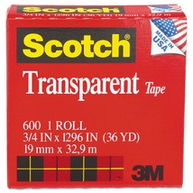 11 Pack 3M COMPANY TAPE TRANSPARENT FILM 3/4 X 1296 - $9.71
