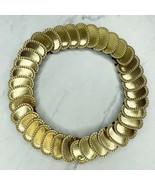 Gold Tone Studded Oval Scale Stretch Belt One Size OS - $11.68
