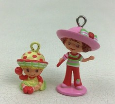 Strawberry Shortcake Lot 2 Charm Figure Dolls Apple Strawberry Toys TCFC... - $11.83