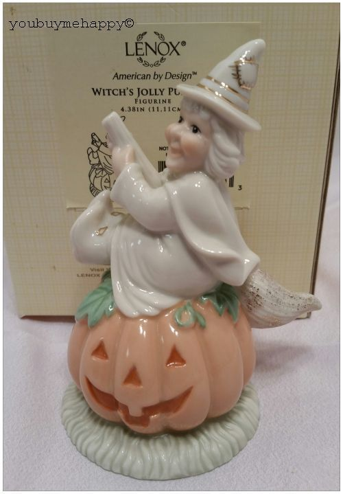 Lenox Halloween Witch's Jolly Pumpkin Figurine  New in Box