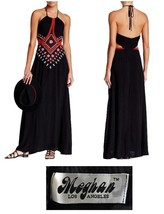 Meghan LA Alexandria Rose Embroidered Maxi Dres... - $92.00
