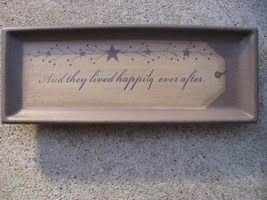 Wood Plate  31566L - And they Lived Happily Every After. - $10.95