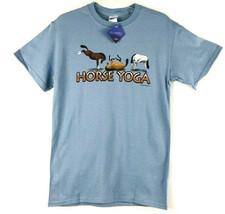 Horse T-shirt Yoga Blue Unisex S NWT Short Sleeve - $20.20