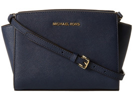 MICHAEL KORS Selma Meidum Saffiano Leather Cros... - $155.00