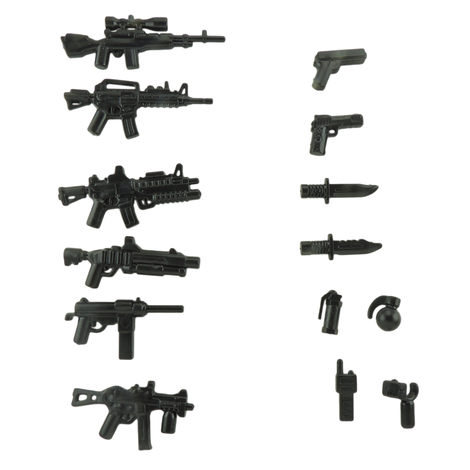 Figures minifig accessories weapons for lego brickarms minifigs army accessories and rifles pack
