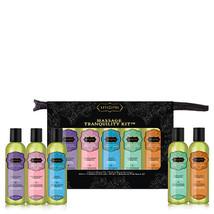 Kama Sutra Massage Tranquility Kit Aromatic Massage Oil Sampler Travel S... - $24.49
