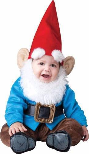 LIL GARDEN GNOME 6-12 mos INFANT TODDLER COSTUME Boys Kids Elf Cute Theme Party