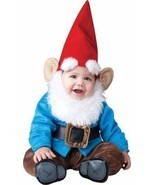 LIL GARDEN GNOME 6-12 mos INFANT TODDLER COSTUME Boys Kids Elf Cute Them... - £42.41 GBP