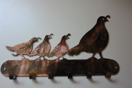 QUAIL MAMA AND CHICKS KEY AND HAT RACK HOLDER - $19.99