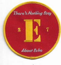 US Army 2-E-7 There's Nothing Easy About Echo Military Patch NEW!!! - $11.87