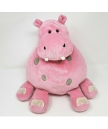 """13"""" ANIMAL ALLEY TOYS R US PINK & GREY ROUND HIPPO PILLOW SOFT STUFFED P... - $55.17"""