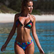 Womens TieDye Bikini Set Swimsuit Swimwear Pushup Bra Beachwear Bathing Summer image 8