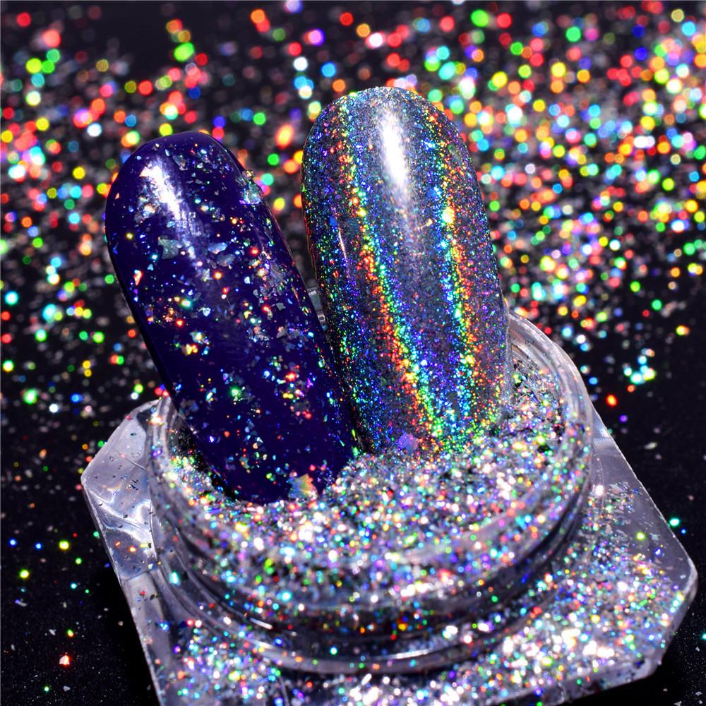 BAHYHAQ -  Powder Nail Art Mermaid Pigment Dust Neon Symphony Discoloration